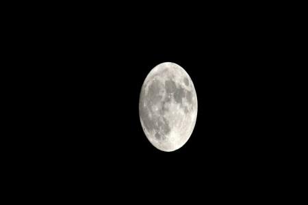 October Full Moon in Boston — Photograph by Paul Marotta