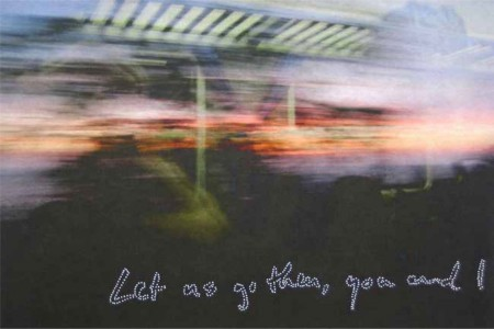 Let Us Go Then, You and I, 2008 — Archival inkjet prints with handmade pinprick script by Hannah Cole