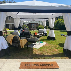 Outdoor cabanas at Chateau Ste. Michelle}