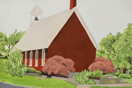 Florham Park: Little Red Schoolhouse, 2017 — Gouache by Alec Dartley