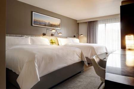 Archer Hotel Florham Park — Double King Guest Room — two king beds and desk