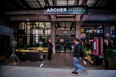 Archer Hotel New York — Entrance with passersby