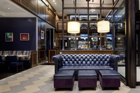 Hotel lobby seating, The Foyer Bar and Charlie Palmer Steak