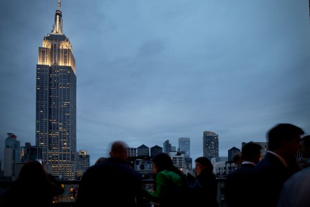 Archer Hotel New York — Empire State Building night view from Spyglass Rooftop Bar