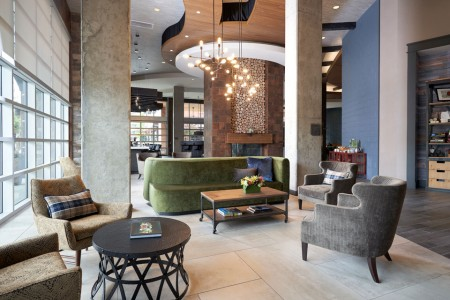 Hotel lobby with additional seating