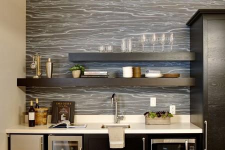 Archer's Den - sleek wet bar fully stocked for entertaining