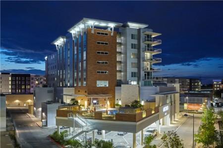 Archer Hotel Austin — Exterior at night