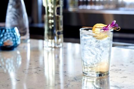 Cocktails at Archer's Kitchen + Bar — Garnished cocktail