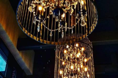 Closeup of chandelier