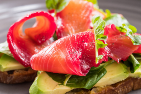 Avocado toast with smoked salmon from Charlie Palmer Steak at Archer Hotel Napa