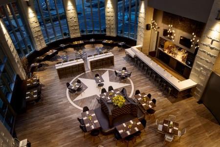 Second Bar + Kitchen dining area atArcher Austin Hotel