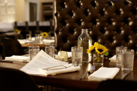 Table setting at Second Bar + Kitchen