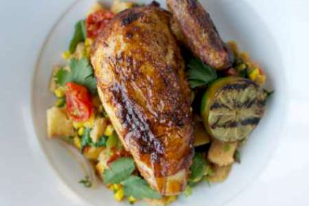 Roast chicken entrée