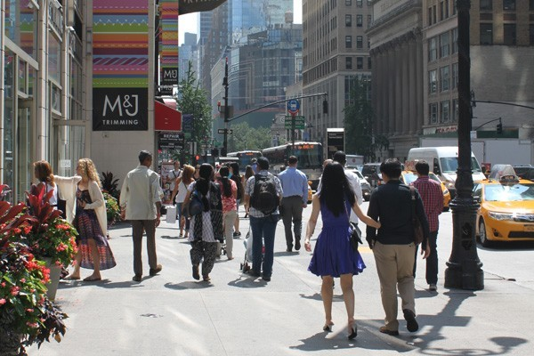Garment District filled with People