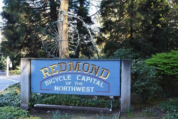 Archer Hotel Redmond — Redmond 'Bicycle Capital of the Northwest' sign