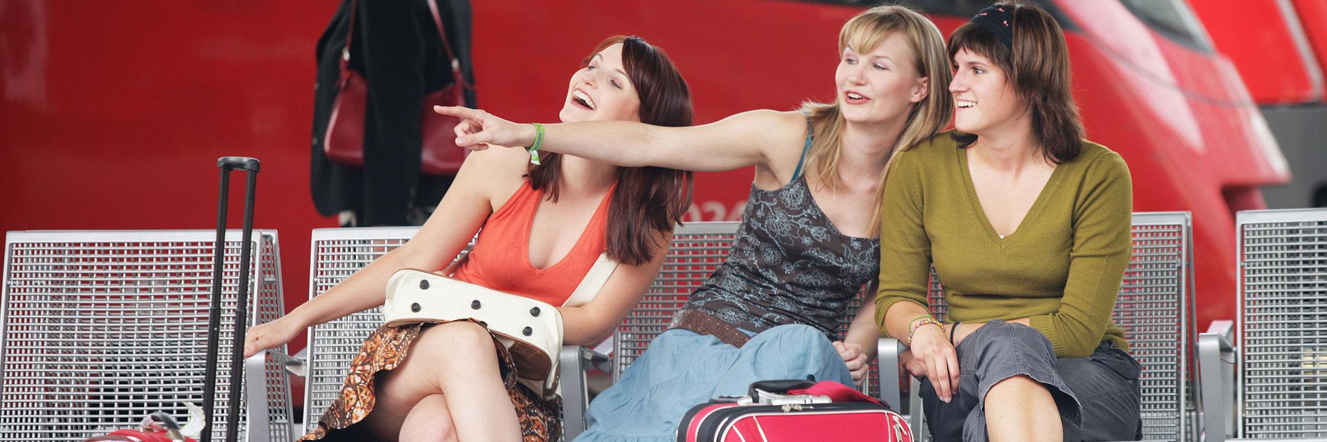 Three Women Socializing
