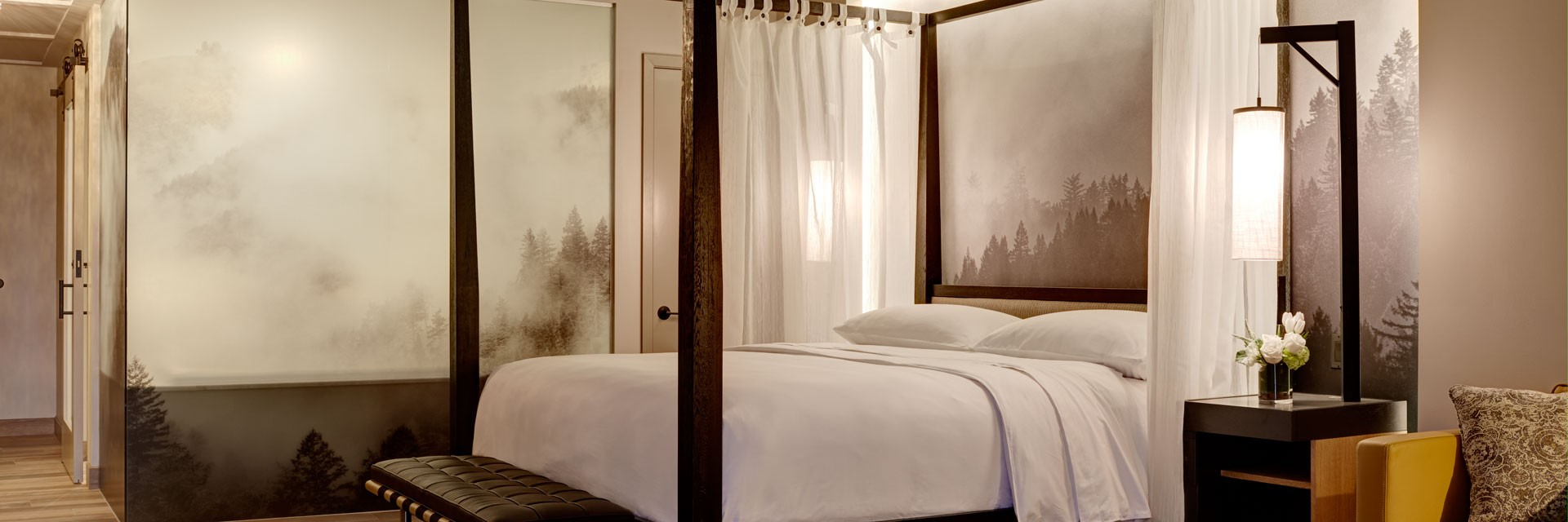 Archer Hotel Napa Four-Poster Canopy Bed