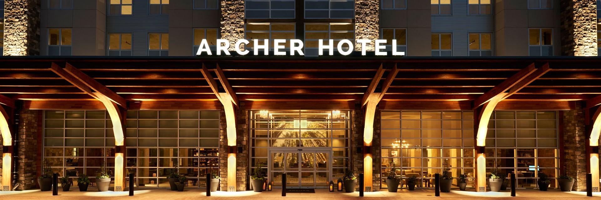 Archer Hotel Redmond exterior rendering