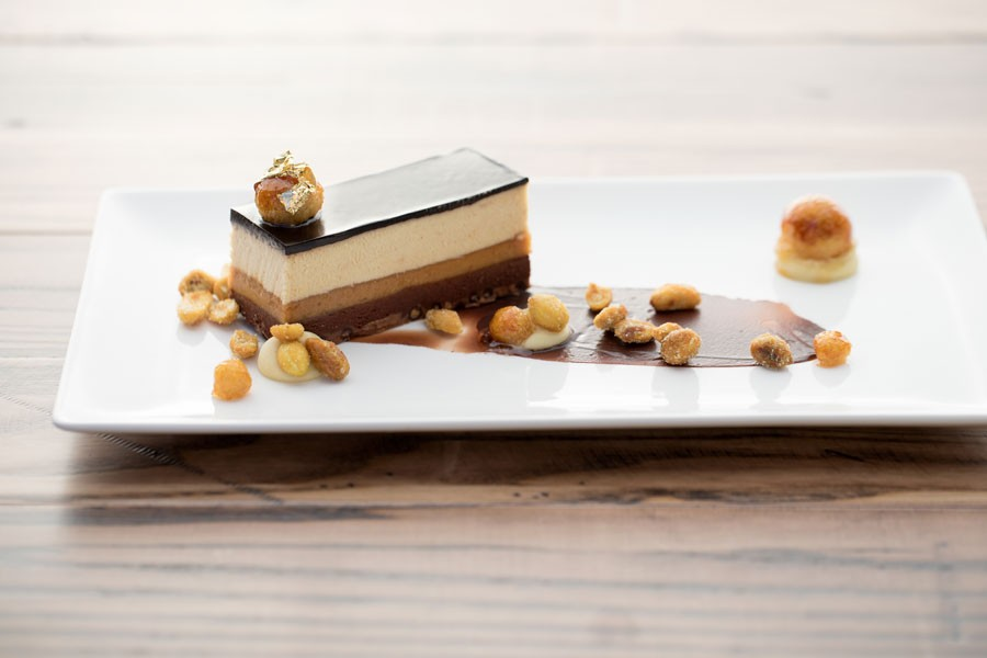 Peanut butter terrine