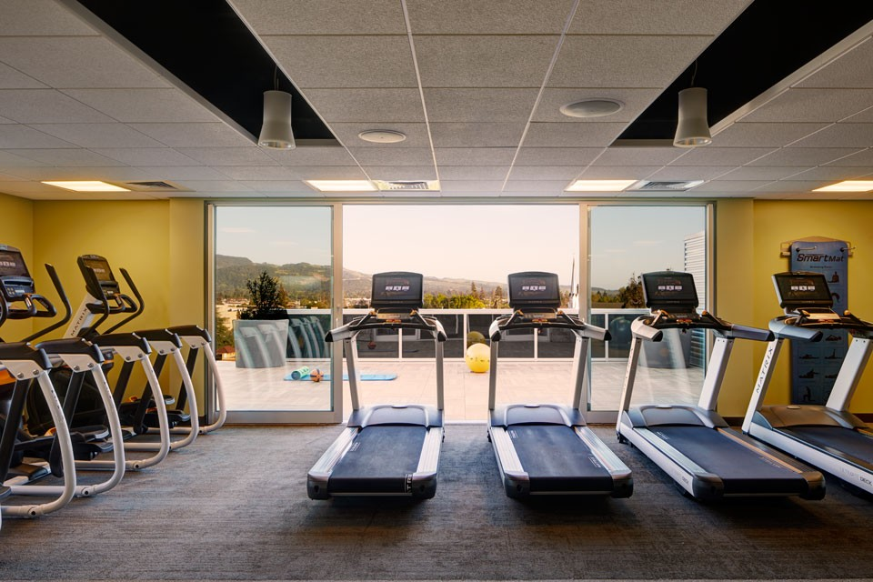 Archer Hotel Napa — Fitness Studio on Rooftop with treadmills