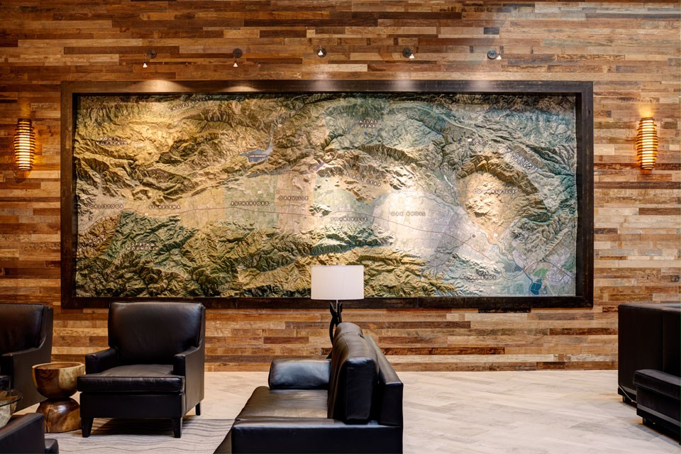 Archer Hotel Napa Lobby Wall Map