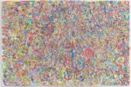 Untitled, 2014 — Prismacolor on paper by Barry Regan