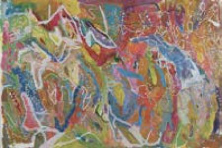 Untitled, 2016 — Acrylic on paper by Joseph Alef