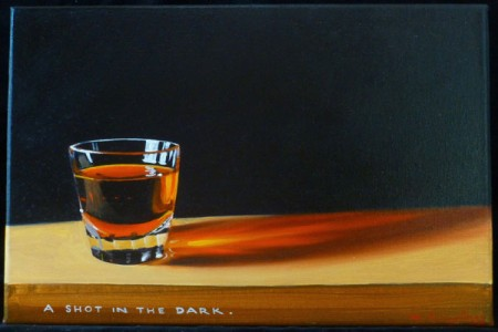 A Shot in the Dark, 2017 — Oil on canvas by Marvin Humphrey