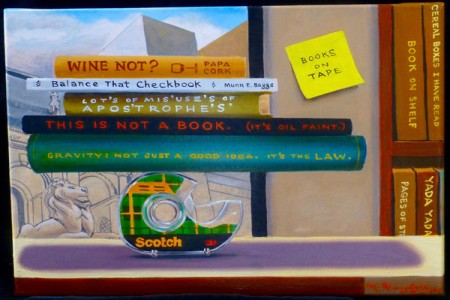 Books on Tape, 2017 — Oil on canvas by Marvin Humphrey