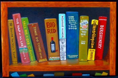 Books, 2017 — Oil on canvas by Marvin Humphrey