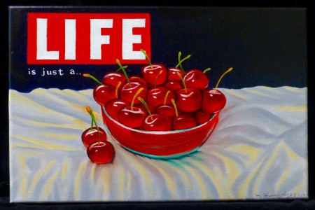 Bowl o' Cherries, 2017 — Oil on canvas by Marvin Humphrey
