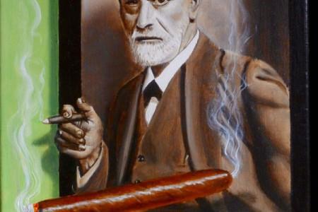 Cigar, 2017  Oil on canvas by Marvin Humphrey