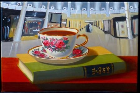 Cup o' Tea, 2017 — Oil on canvas by Marvin Humphrey