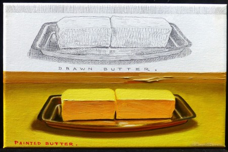 Drawn Butter, 2017 — Oil on canvas by Marvin Humphrey