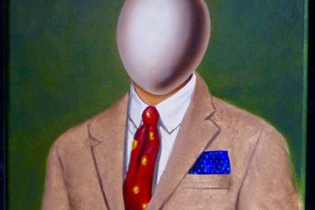 Egghead, 2017 — Oil on canvas by Marvin Humphrey