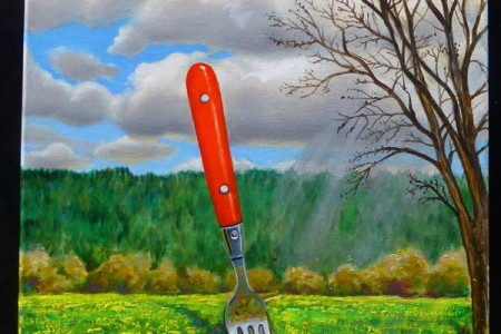 Fork, 2017 — Oil on canvas by Marvin Humphrey
