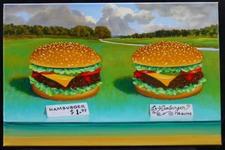 Hamburgers, 2017 — Oil on canvas by Marvin Humphrey