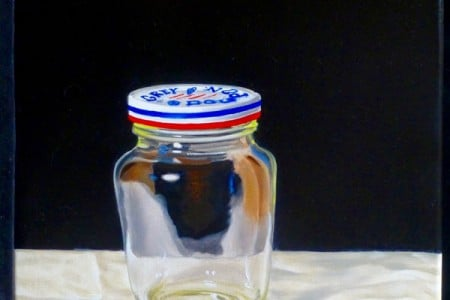 Jar of Nothing, 2017 — Oil on canvas by Marvin Humphrey
