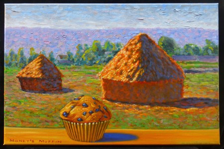 Monet's Muffin, 2017 — Oil on canvas by Marvin Humphrey