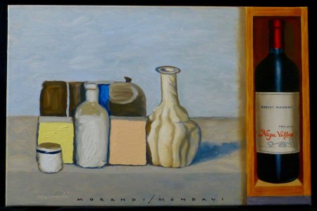 Morandi/Mondavi, 2017 — Oil on canvas by Marvin Humphrey