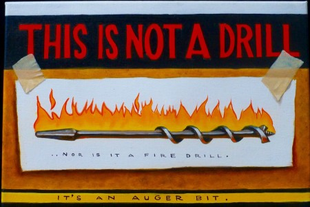 Not a Drill, 2017 — Oil on canvas by Marvin Humphrey