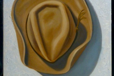Old Hat, 2017 — Oil on canvas by Marvin Humphrey