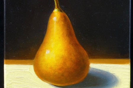 Pear, 2017 — Oil on canvas by Marvin Humphrey