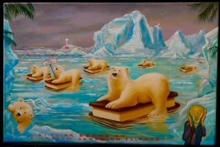 Polar Bears, 2017 — Oil on canvas by Marvin Humphrey