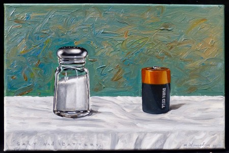 Salt and Battery, 2017 — Oil on canvas by Marvin Humphrey