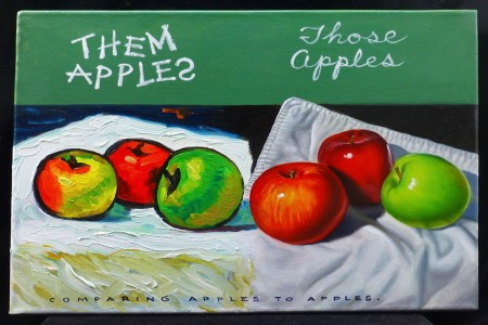 Them Apples, 2017 — Oil on canvas by Marvin Humphrey