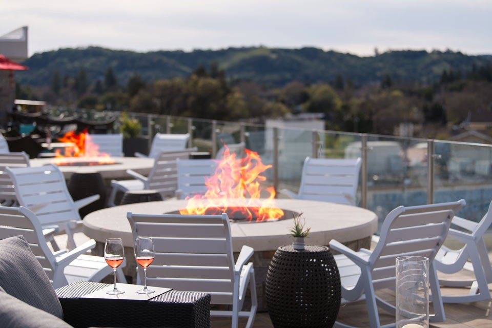 Archer Hotel Napa — Fire pit seating