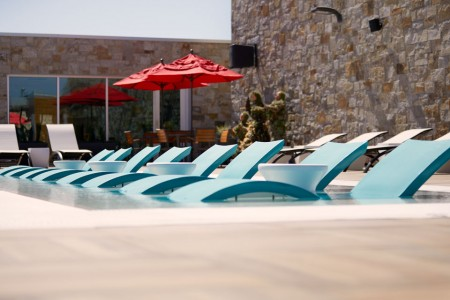 Archer's Water Deck with loungers