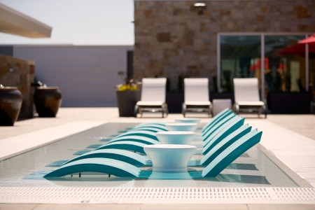The Water Deck with loungers