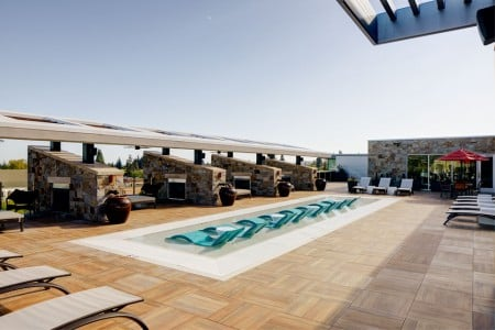 Cabanas and Water Deck — Overall view